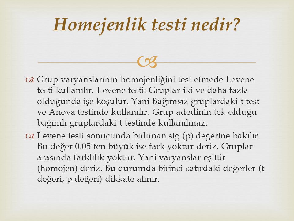 Homejenlik testi nedir