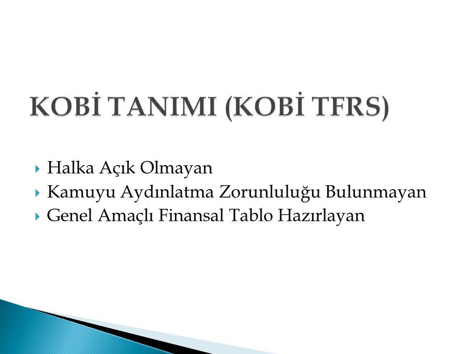 KOBİ TANIMI (KOBİ TFRS)