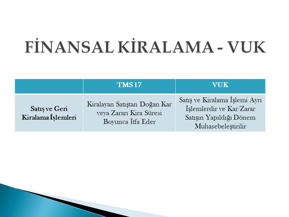 FİNANSAL KİRALAMA - VUK