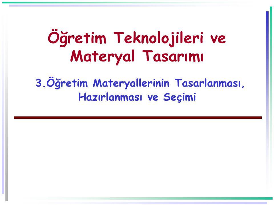 Öğretim Teknolojileri ve Materyal Tasarımı 3