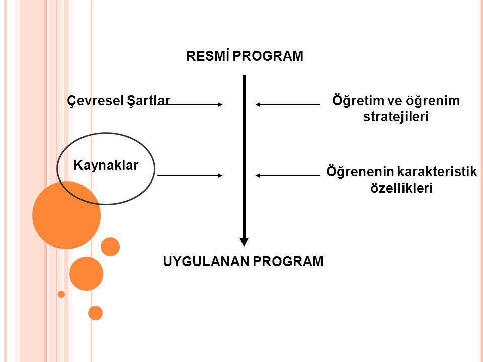 Öğretim ve öğrenim stratejileri Öğrenenin karakteristik özellikleri
