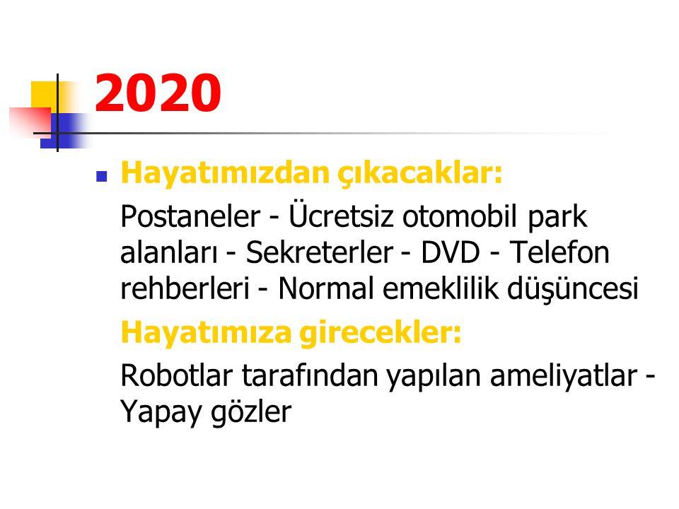 2020 Hayatımızdan çıkacaklar:
