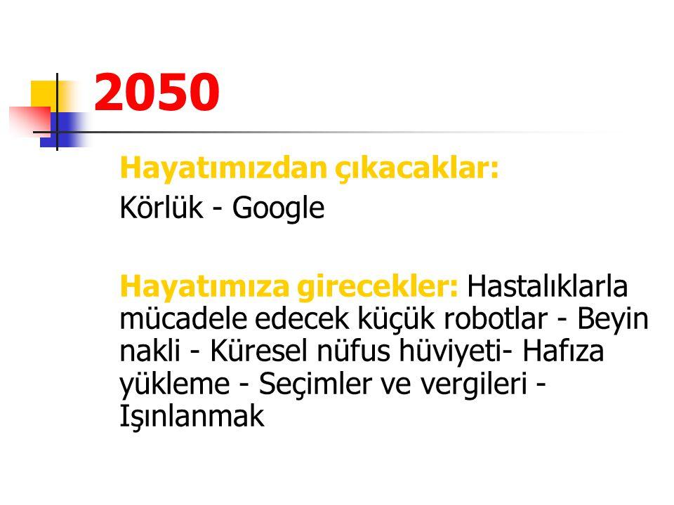 2050 Hayatımızdan çıkacaklar: Körlük - Google