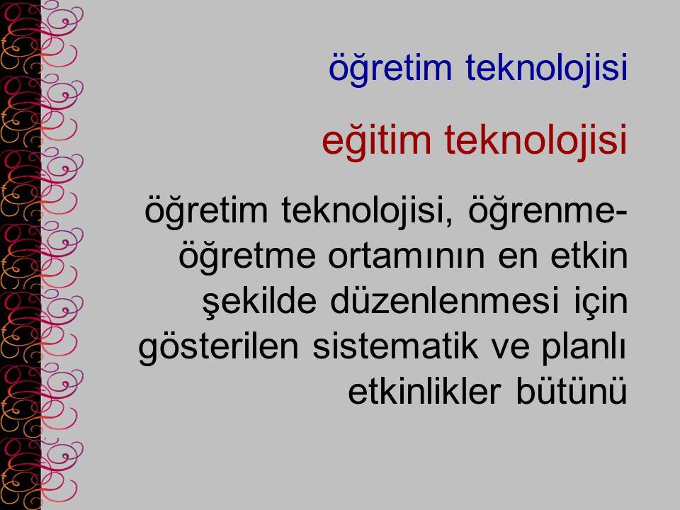 eğitim teknolojisi öğretim teknolojisi