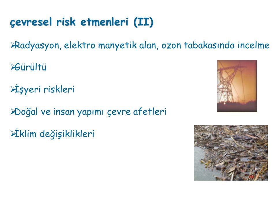 çevresel risk etmenleri (II)