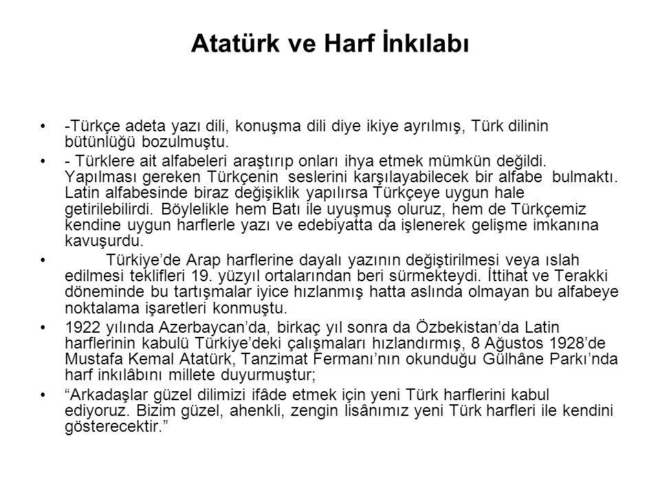 Atatürk ve Harf İnkılabı