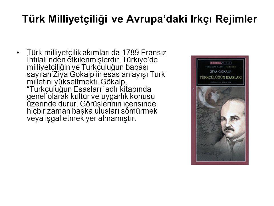 Türk Milliyetçiliği ve Avrupa'daki Irkçı Rejimler