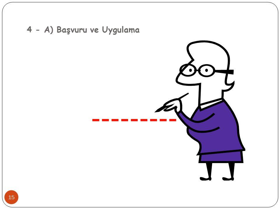4 - A) Başvuru ve Uygulama