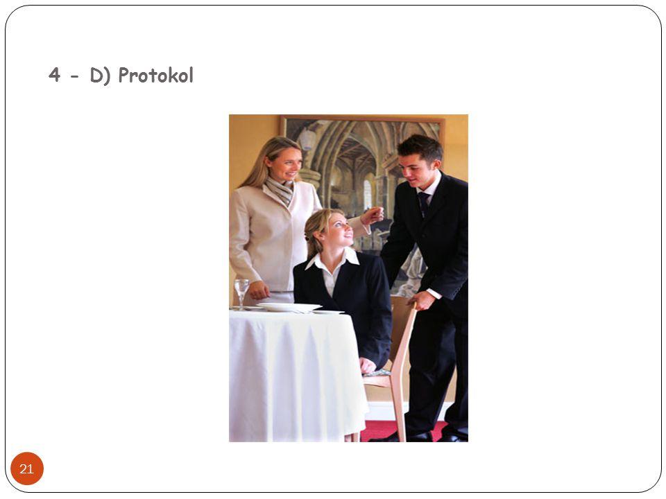 4 - D) Protokol