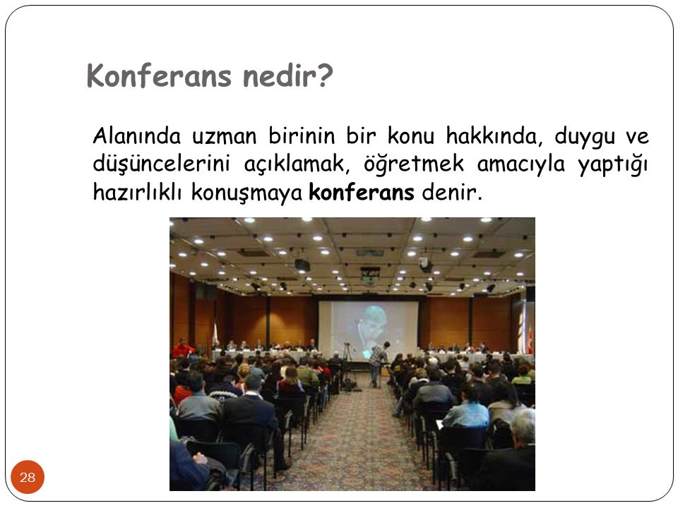 Konferans nedir