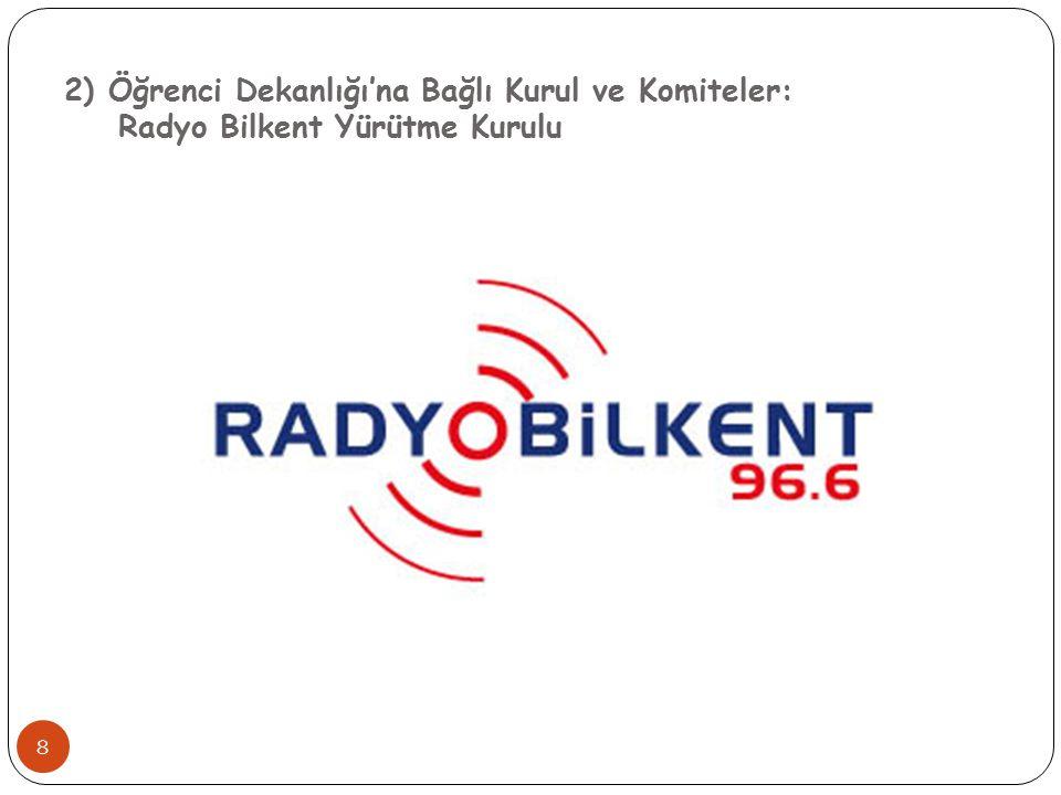 2) Öğrenci Dekanlığı'na Bağlı Kurul ve Komiteler: Radyo Bilkent Yürütme Kurulu