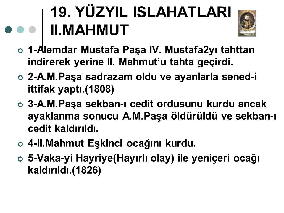 19. YÜZYIL ISLAHATLARI II.MAHMUT