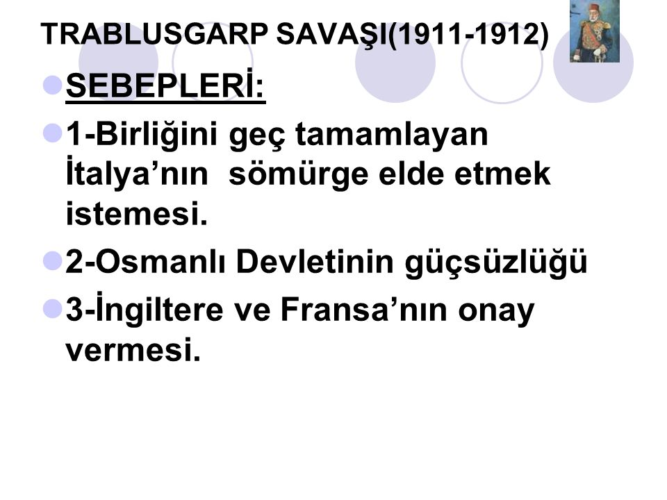 TRABLUSGARP SAVAŞI(1911-1912)