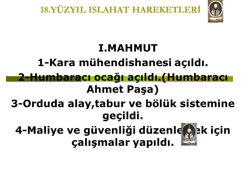 18.YÜZYIL ISLAHAT HAREKETLERİ