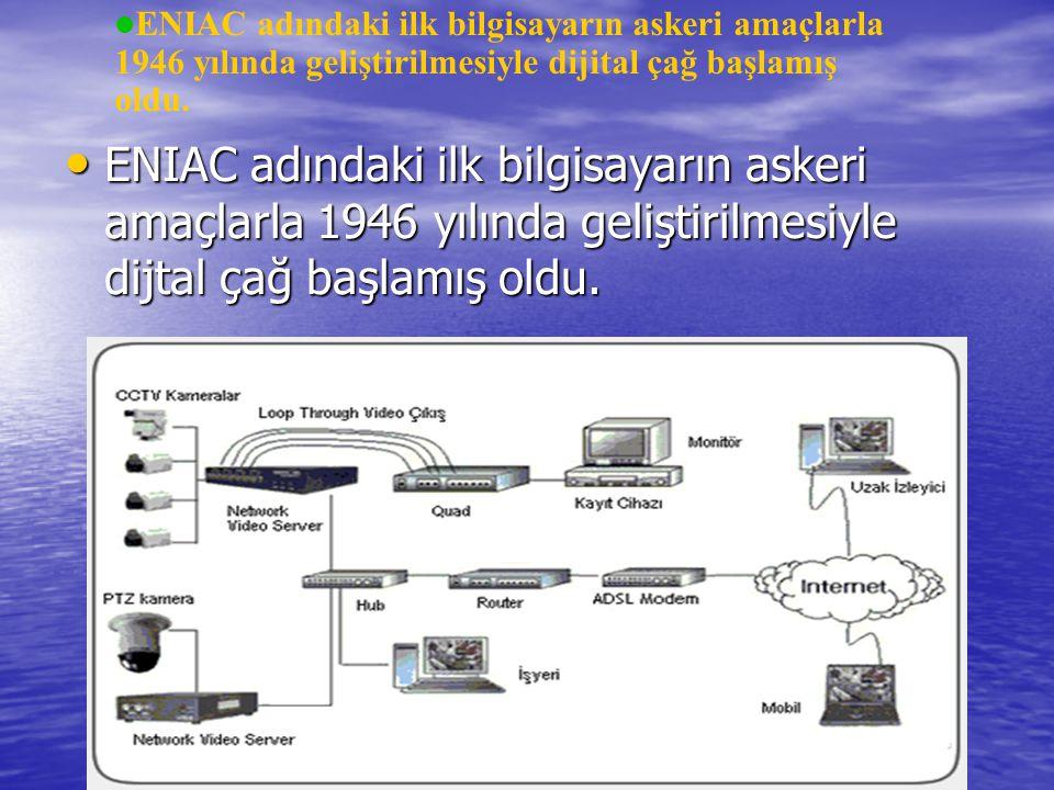 ENIAC adındaki ilk bilgisayarın askeri amaçlarla 1946 yılında geliştirilmesiyle dijital çağ başlamış oldu.