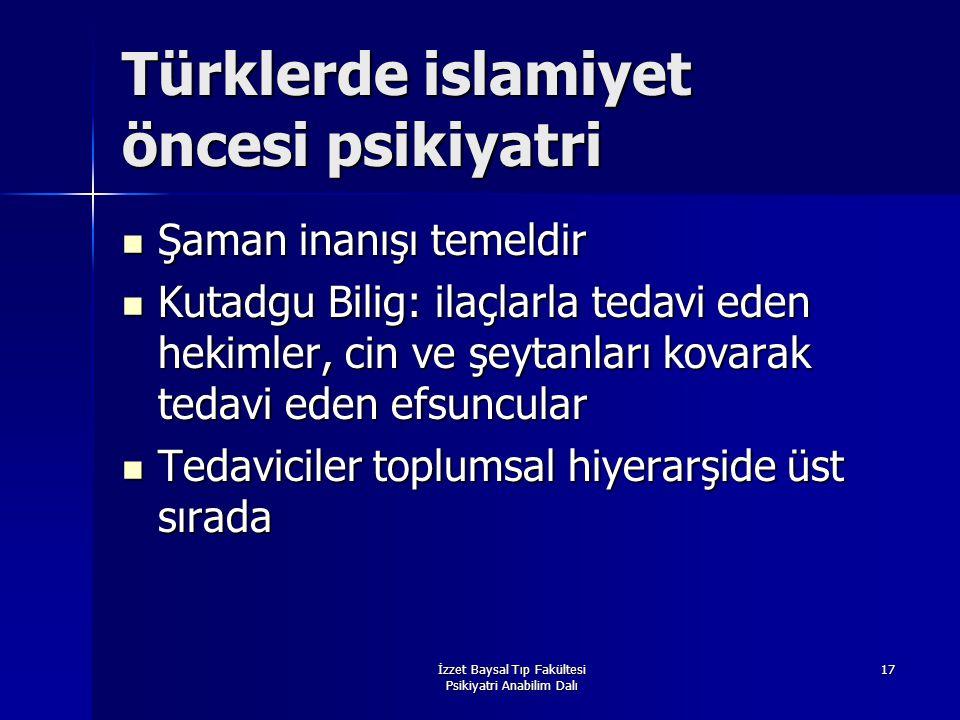 Türklerde islamiyet öncesi psikiyatri