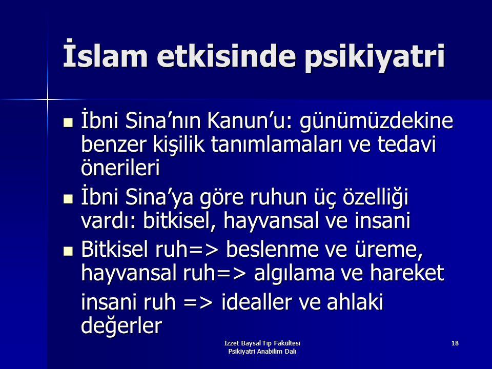 İslam etkisinde psikiyatri