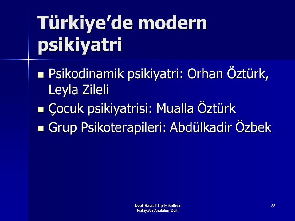 Türkiye'de modern psikiyatri