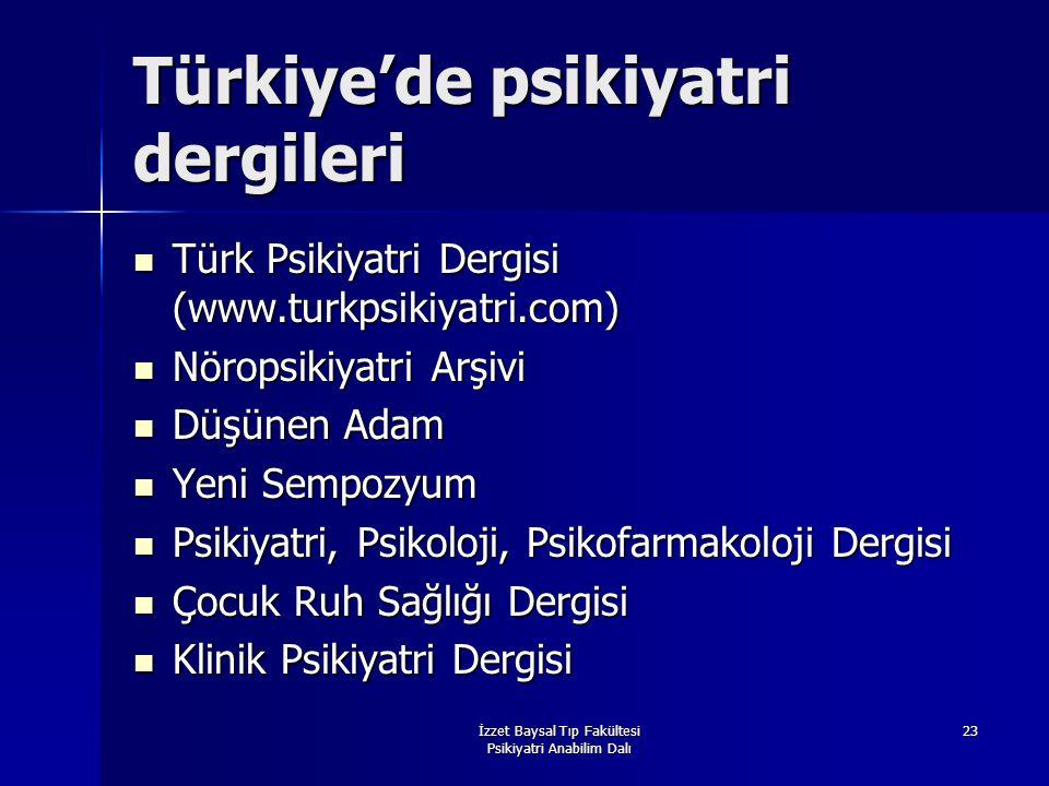 Türkiye'de psikiyatri dergileri