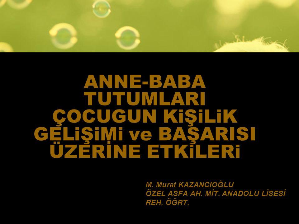 M. Murat KAZANCIOĞLU ÖZEL ASFA AH. MİT. ANADOLU LİSESİ REH. ÖĞRT.