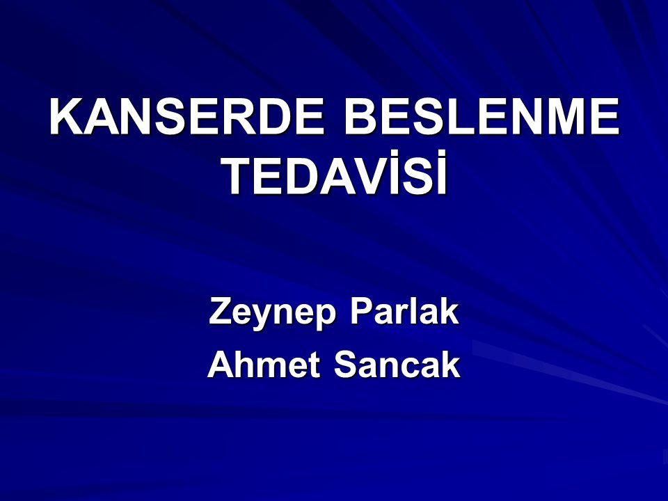 KANSERDE BESLENME TEDAVİSİ