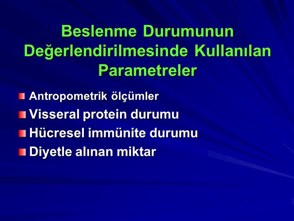 Beslenme Durumunun Değerlendirilmesinde Kullanılan Parametreler
