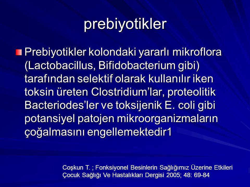 prebiyotikler