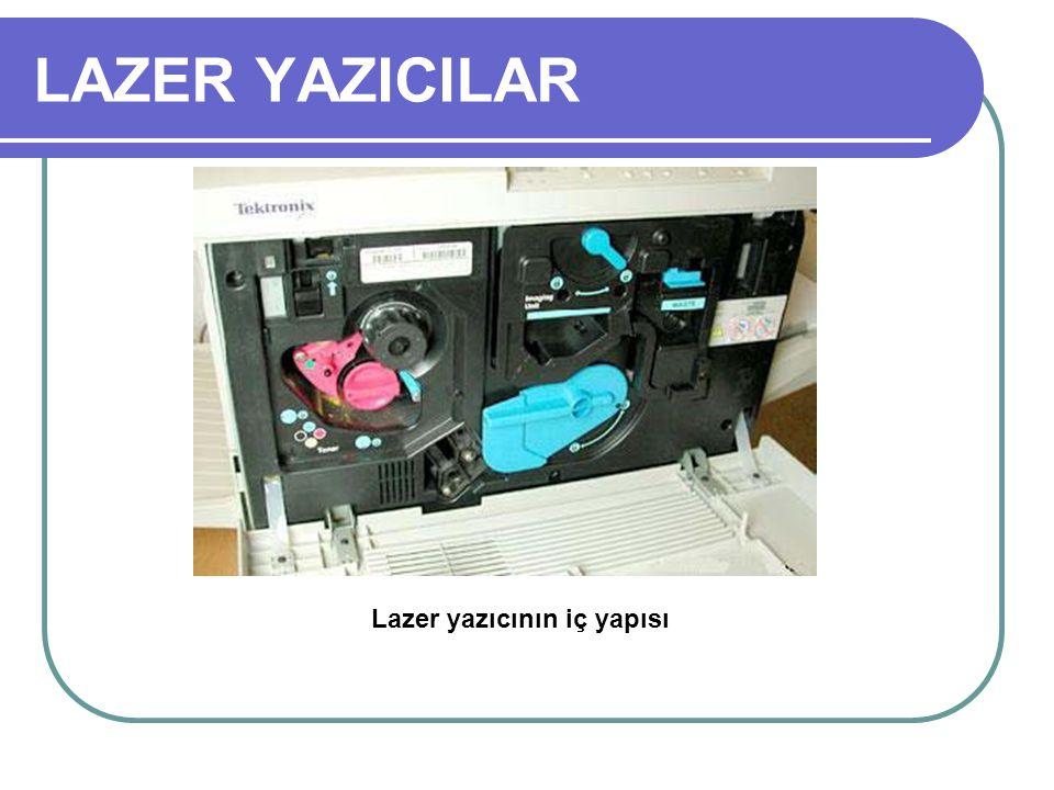 LAZER YAZICILAR Lazer yazıcının iç yapısı