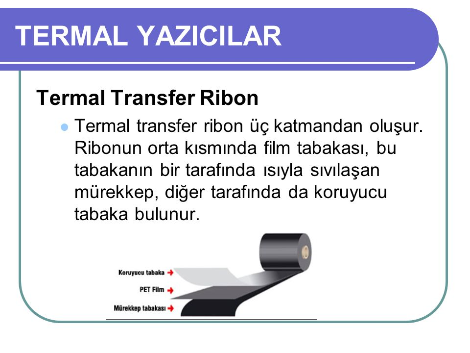TERMAL YAZICILAR Termal Transfer Ribon
