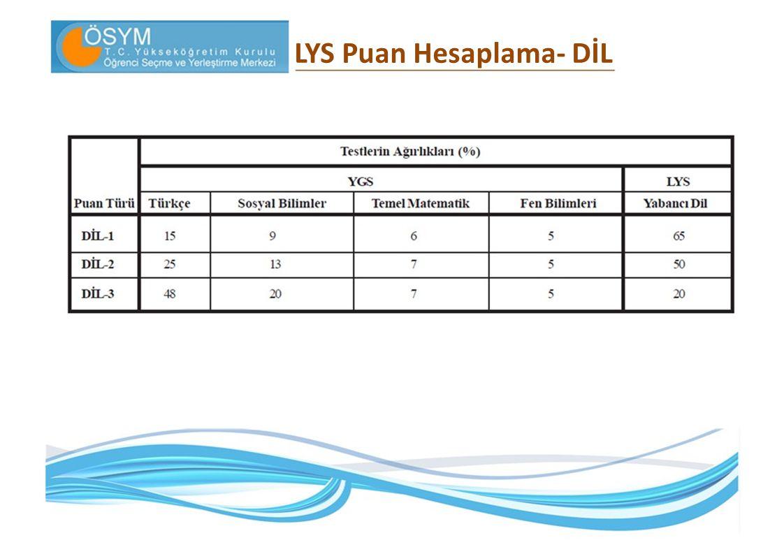 LYS Puan Hesaplama‐ DİL