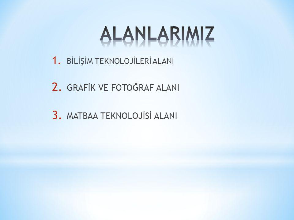 ALANLARIMIZ GRAFİK VE FOTOĞRAF ALANI MATBAA TEKNOLOJİSİ ALANI