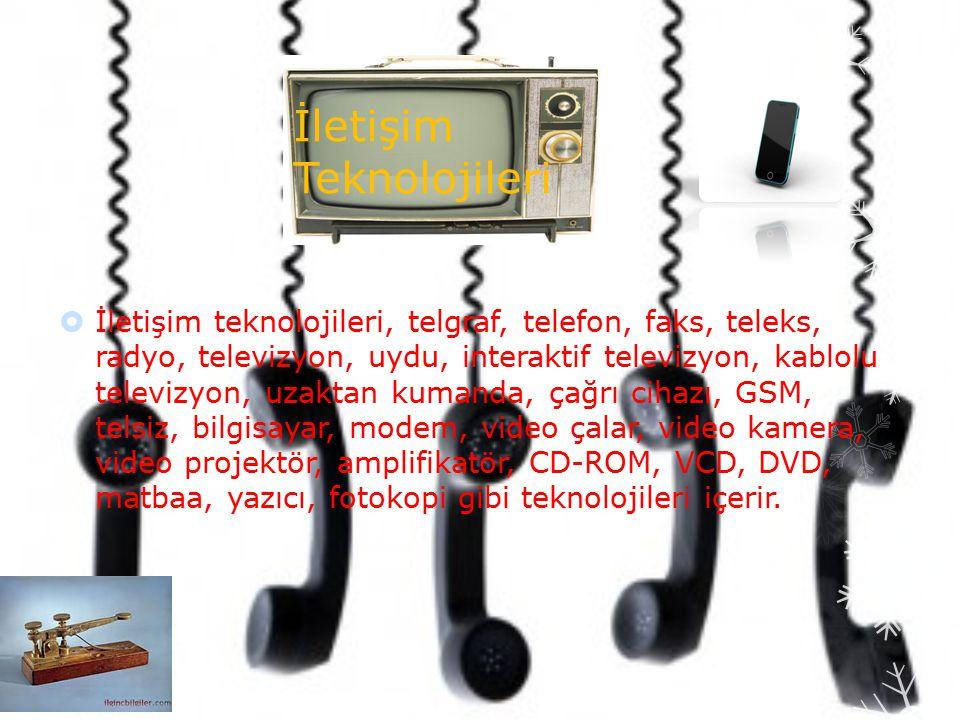 İletişim Teknolojileri