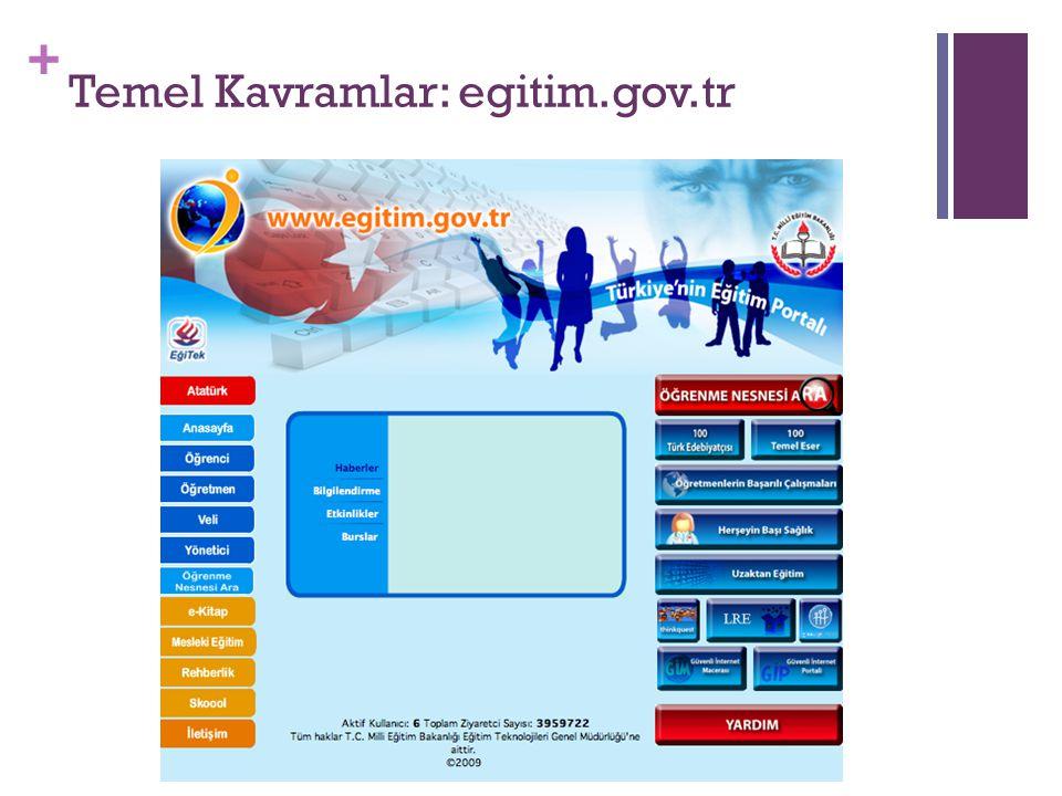 Temel Kavramlar: egitim.gov.tr