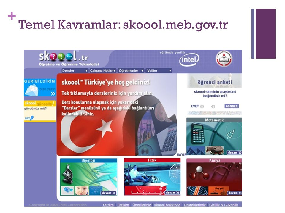 Temel Kavramlar: skoool.meb.gov.tr