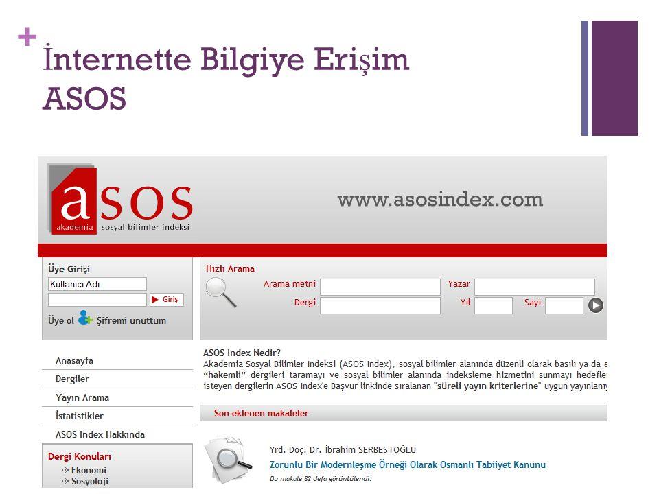 İnternette Bilgiye Erişim ASOS
