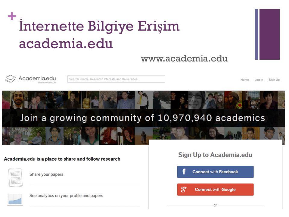 İnternette Bilgiye Erişim academia.edu
