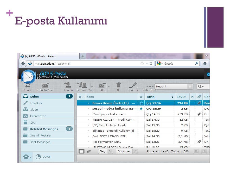 E-posta Kullanımı
