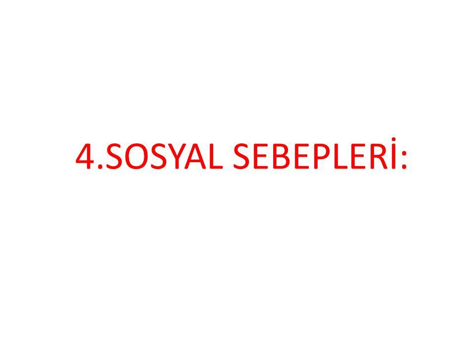 4.SOSYAL SEBEPLERİ: