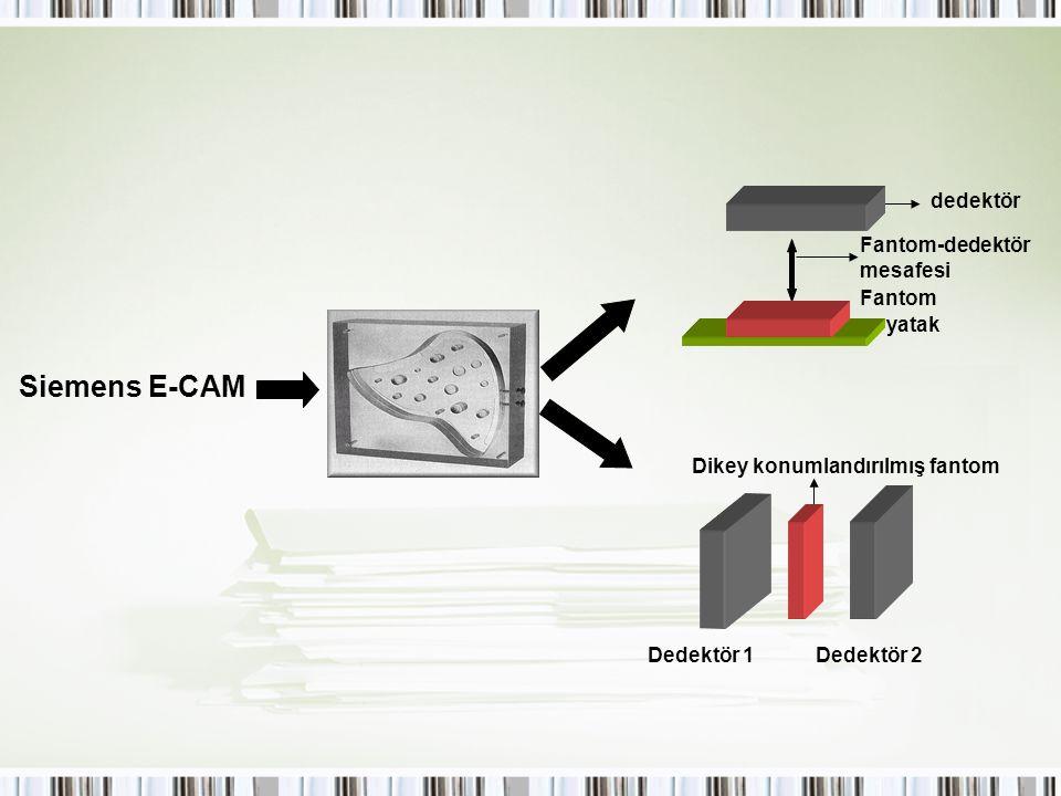 Siemens E-CAM dedektör Fantom-dedektör mesafesi Fantom yatak