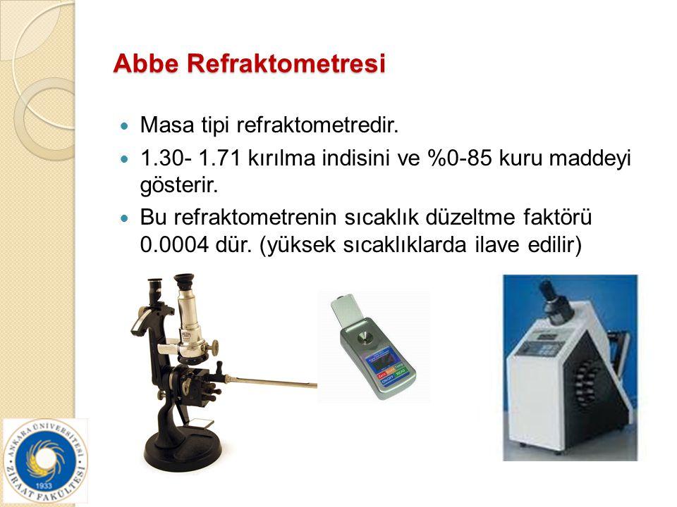 Abbe Refraktometresi Masa tipi refraktometredir.