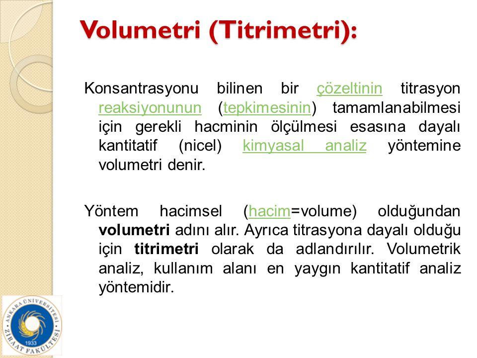 Volumetri (Titrimetri):