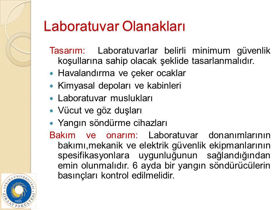 Laboratuvar Olanakları