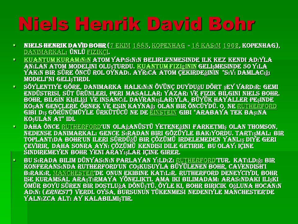 Niels Henrik David Bohr