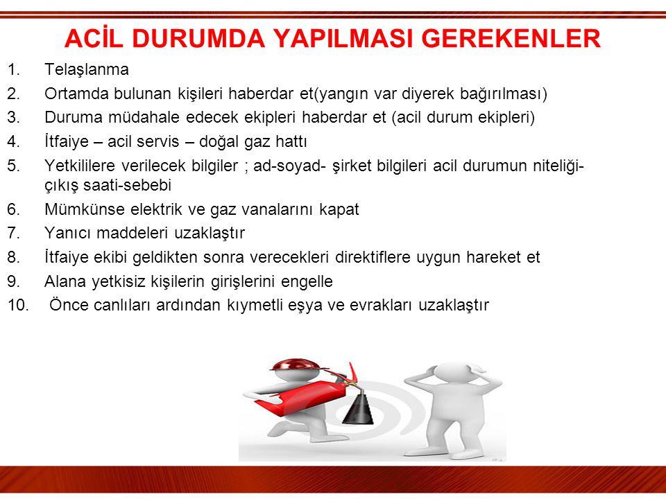 ACİL DURUMDA YAPILMASI GEREKENLER