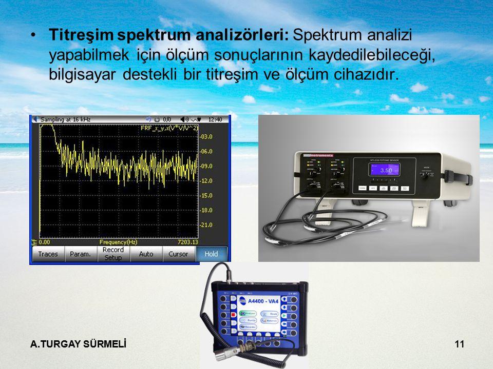Titreşim spektrum analizörleri: Spektrum analizi yapabilmek için ölçüm sonuçlarının kaydedilebileceği, bilgisayar destekli bir titreşim ve ölçüm cihazıdır.