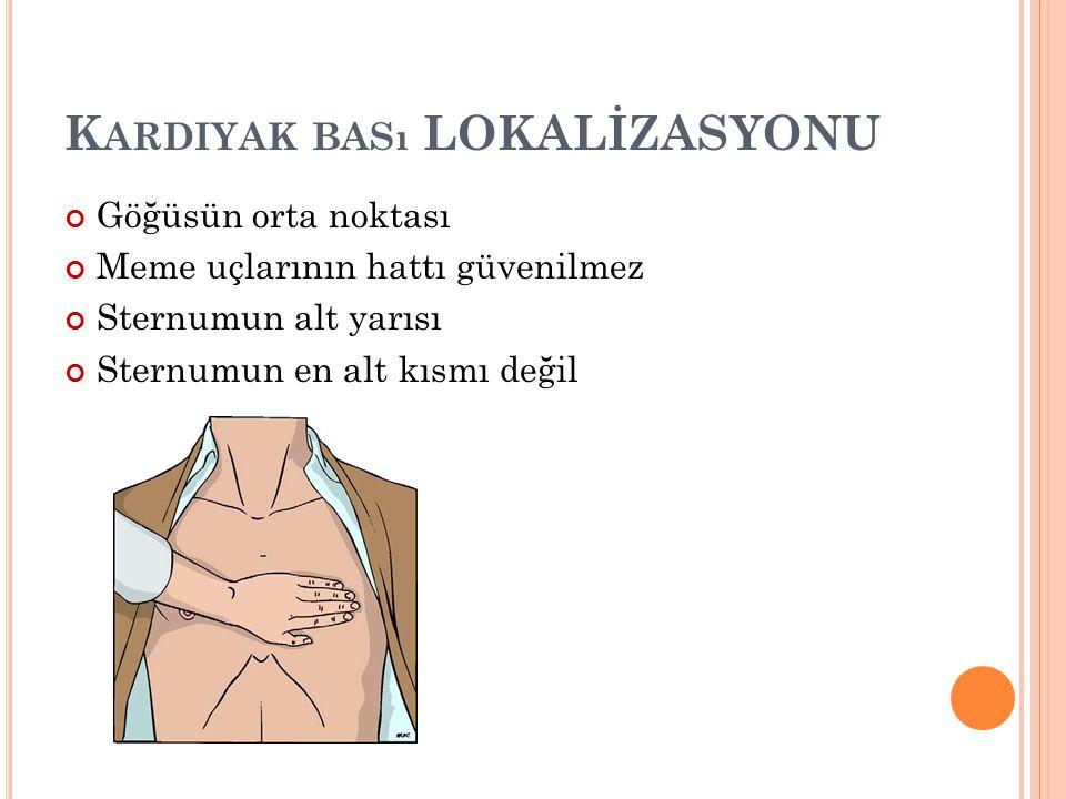 Kardiyak bası LOKALİZASYONU