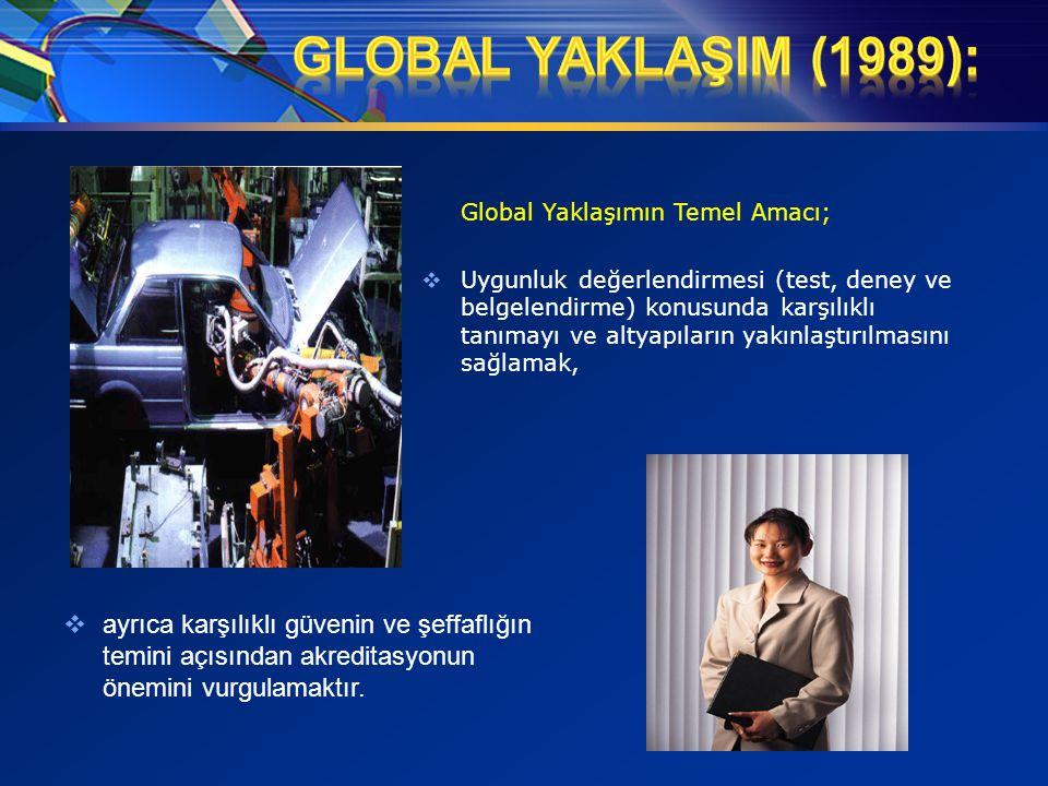 GLOBAL YAKLAŞIM (1989): Global Yaklaşımın Temel Amacı;
