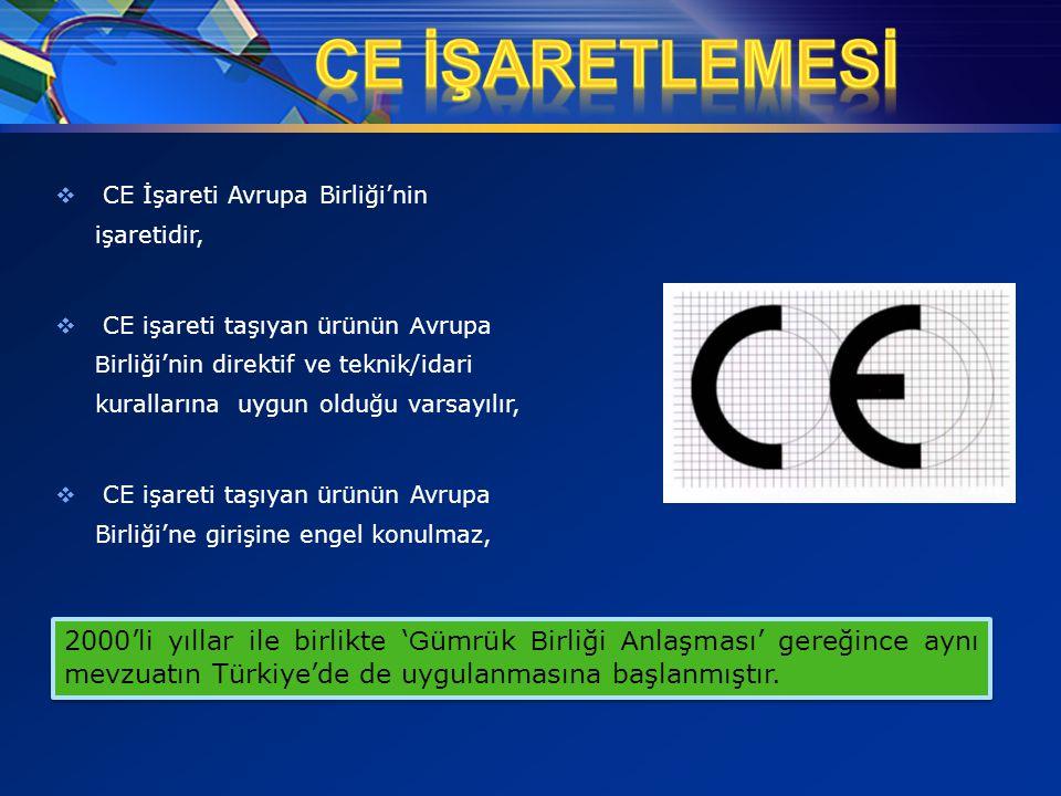 08.04.2017 CE İŞARETLEMESİ. CE İşareti Avrupa Birliği'nin işaretidir,