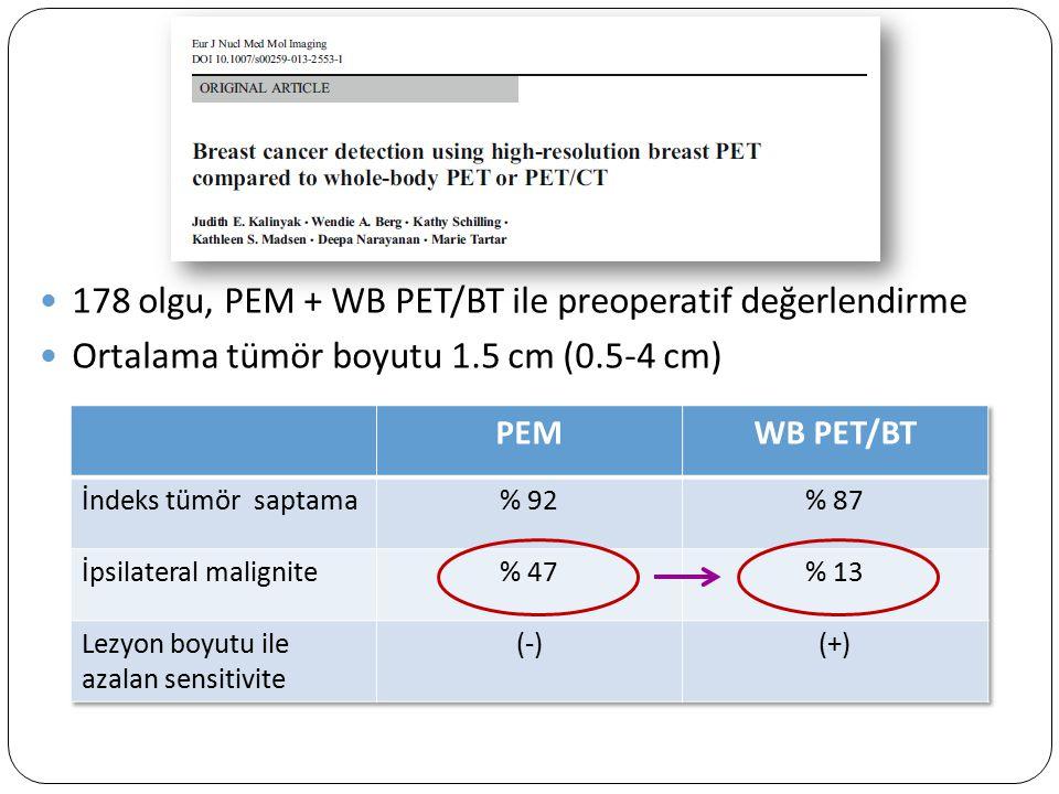 178 olgu, PEM + WB PET/BT ile preoperatif değerlendirme