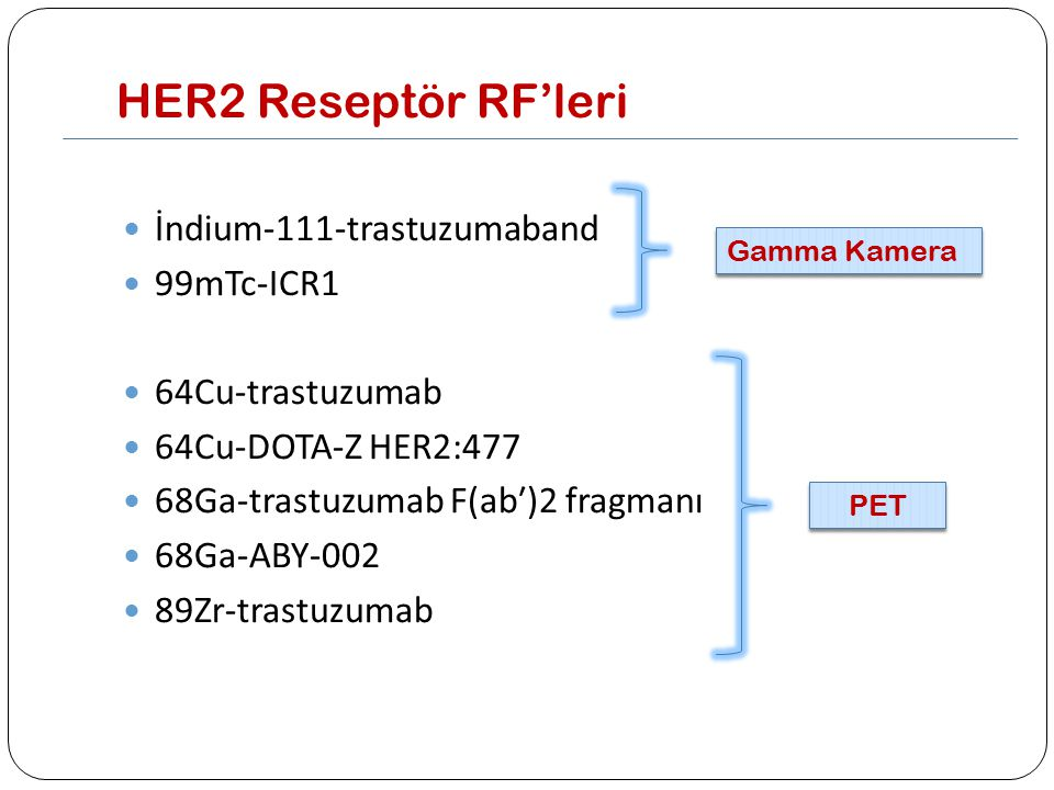 HER2 Reseptör RF'leri İndium-111-trastuzumaband 99mTc-ICR1